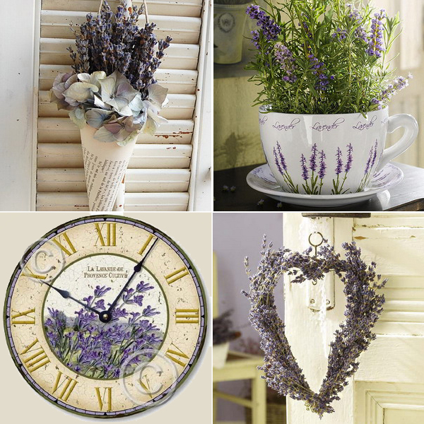 lavender home decorating ideas collage Прованс