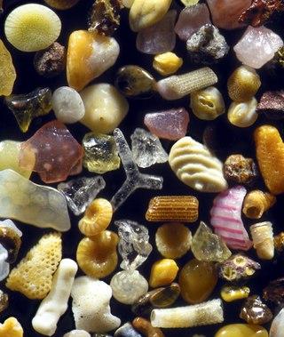 tXcQL20 6ns Песок, увеличенный в 250 раз