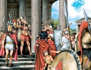 073 300x230 Спартанское воспитание: история с лисёнком