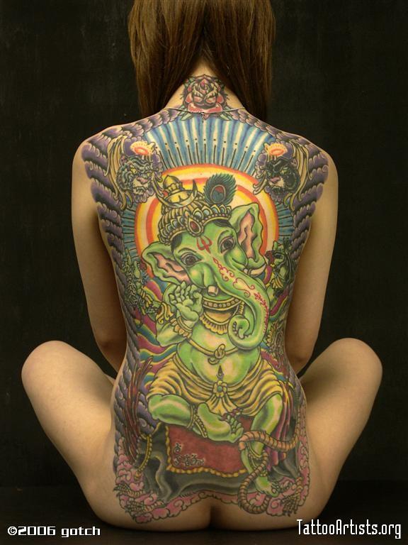 Img34589 PICT1062 Large  Татуировки: бог Ганеша