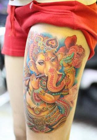 ganesh tattoo 8 Татуировки: бог Ганеша