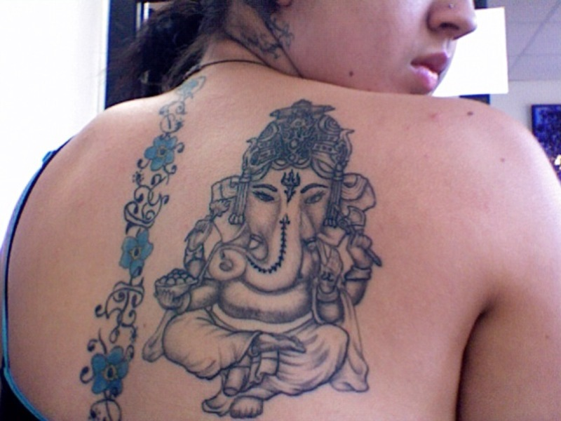 image gallary beautiful hindu tattoo designs 103977 Татуировки: бог Ганеша